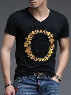 Ericdress Front Print Men's T-Shirt
