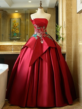Ericdress Straplesss Ball Kleid Stickerei Quinceanera Kleid