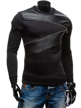 Ericdress Patchwork Round Neck Slim Men's Hoodie
