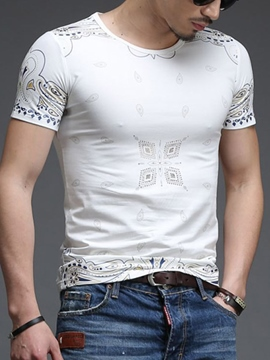 Ericdress Print Vogue Slim Men's T-Shirt