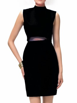 Ericdress Turtle Collar Sleeveless Design Polished Leisure Suit