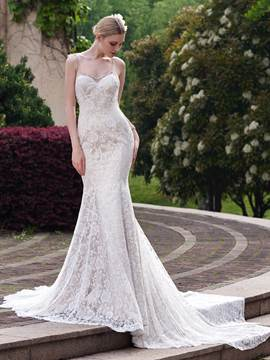 Ericdress Beading Straps Lace Mermaid Wedding Dress