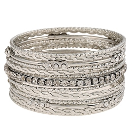 Multilayer Alloy Decorative Pattern Bracelet