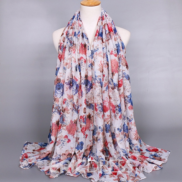 Voile Multicolor Printing Scarf