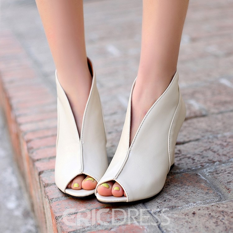 Ericdress Unique Roman Peep Toe Wedge Sandals