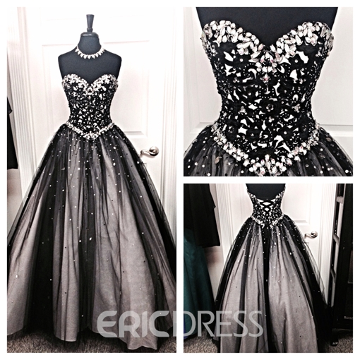 Ericdress Sweetheart Ball Gown Beaded Crystal Quinceanera Dress