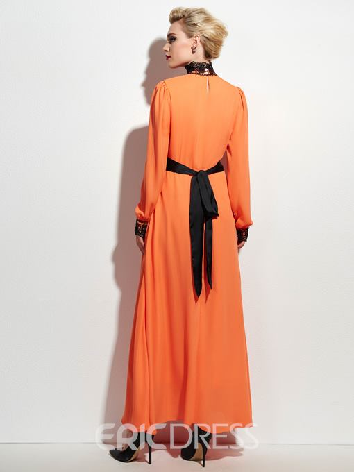 Ericdress Prom Solid Color Maxi Dress