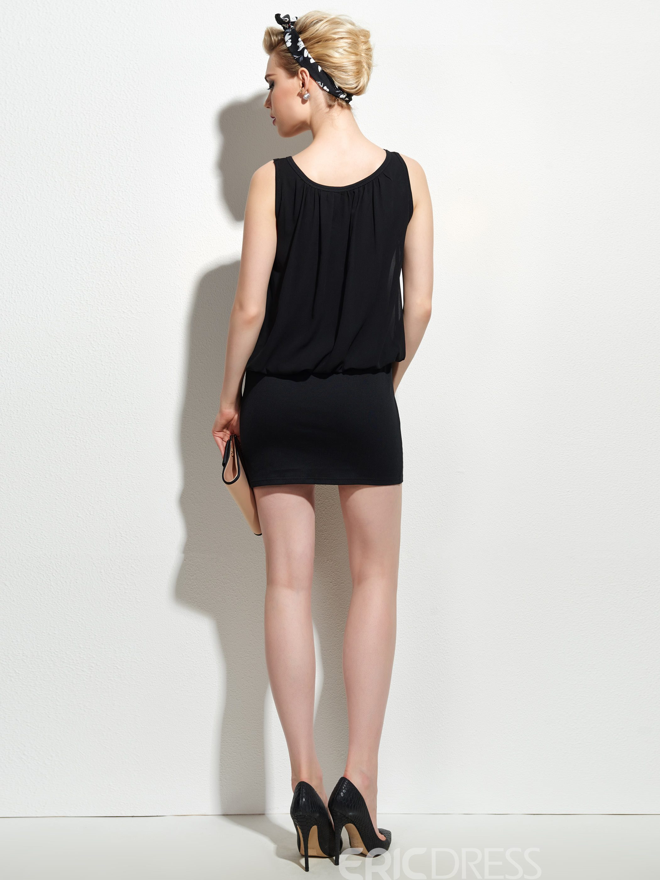 Ericdress OL Style Chiffon Bodycon Dress