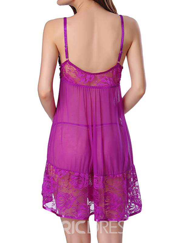 Ericdress Lace See-Through Sexy Babydoll