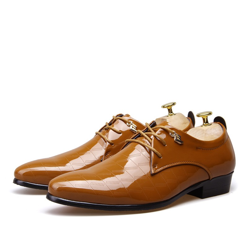 Ericdress Point Toe Patent Leather Men's Oxfords