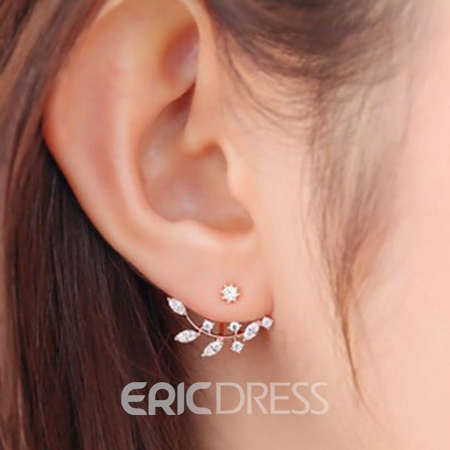 Leaves Branches Stud Earrings