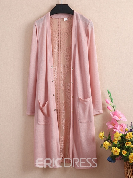 Ericdress Solid Color Lace Sun Protective Outerwear
