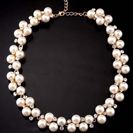 Elegant Imitation Pearls Necklace
