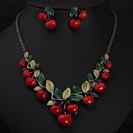 Red Cherry Jewelry Set