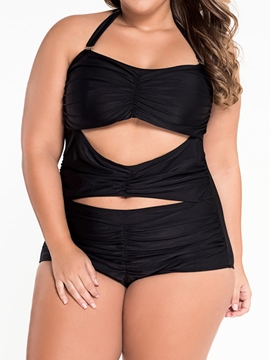Ericdress Plain Large Size Hollow Monokini