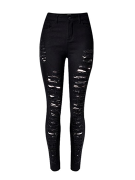 Ericdress Euro-American Style Fashion Ripped Jeans
