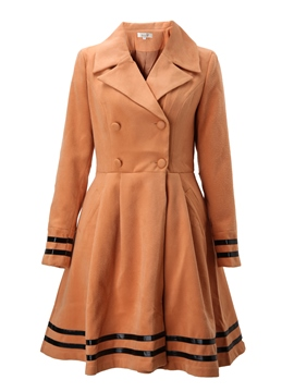 Ericdress Asymmetric Wool Blends Coat