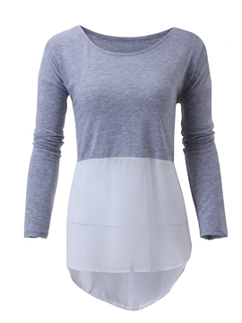 Ericdress Loose Asymmetrical T-shirt