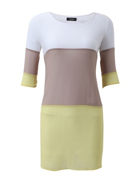 Ericdress Color bloque vestido Casual