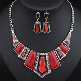 Triangular Geometry Alloy Jewelry Set