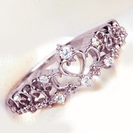 Charming Heart Shaped Hollow Out Ring