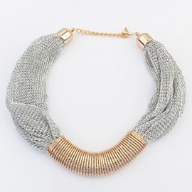 Metal Mesh Yarn Necklace