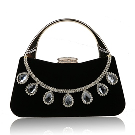 Ericdress Decent Water Drop Diamond Decorated Clutch