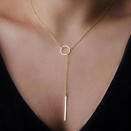 Concise Female Alloy Necklace