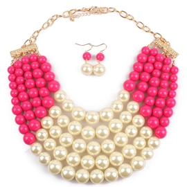 Multilayer Pearl Jewelry Set
