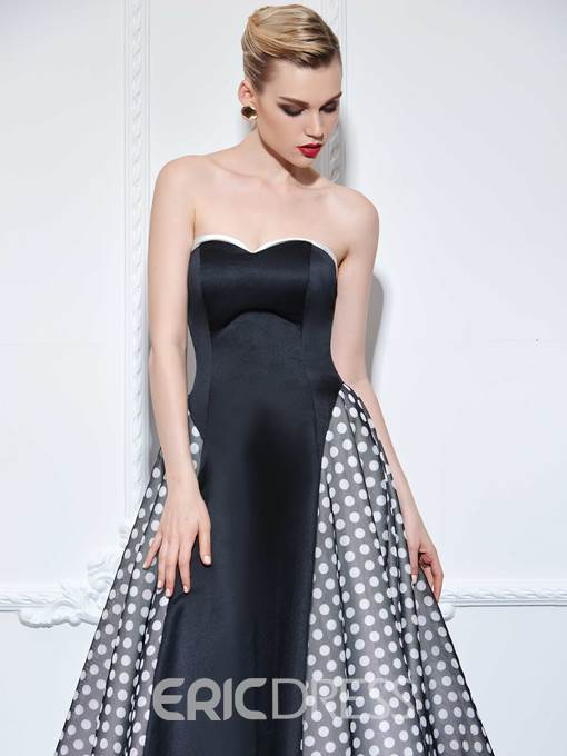 Ericdress A-Line Sweetheart Print Court Train Evening Dress