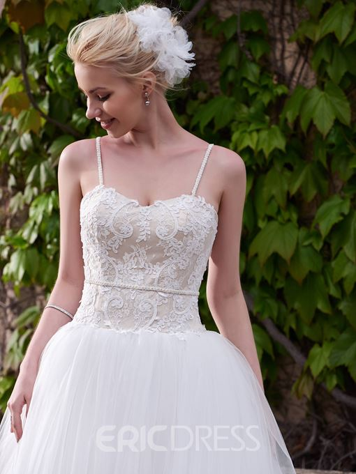 Ericdress Charming Spaghetti Straps A Line Wedding Dress