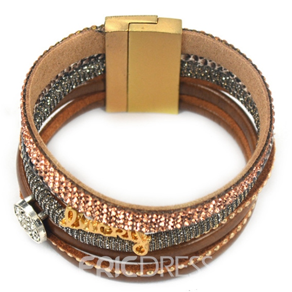 DIY Multi-Layer Leather Bracelet