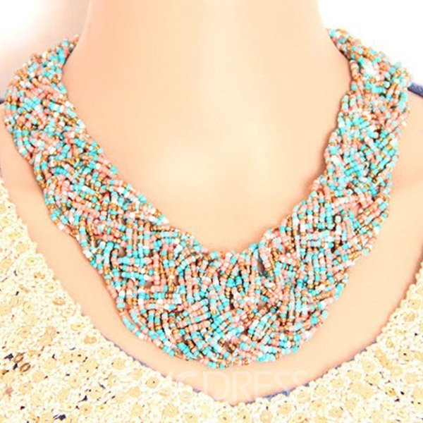 Bohemian Multilayer Colorful Beads Necklace