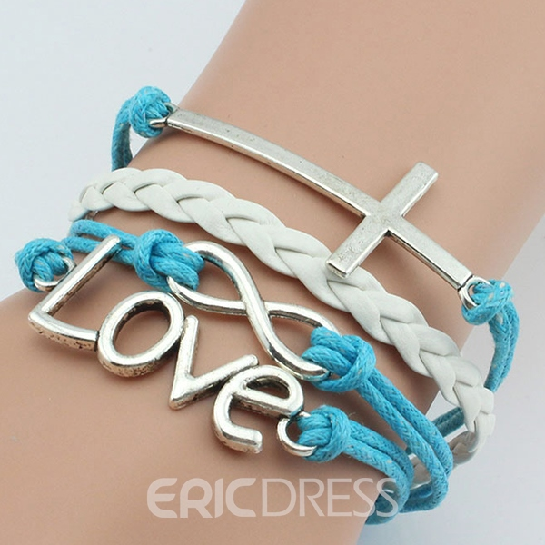 Combined Symbols Multilayer Bracelet