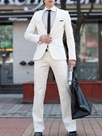 Ericdress White One Button Slim Men's Suit