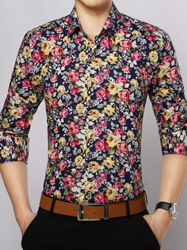 Ericdress Long Sleeve Floral Vogue Men's Shirt