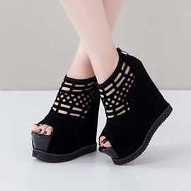 Ericdress Sexy Cut Out Wedge Sandals