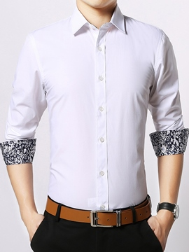 Ericdress Long Sleeve Multi-Color Slim Men's Shirt