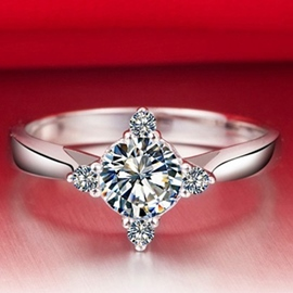 Ericdress Sparking Zircon Ring for Women