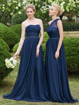 Ericdress Beautiful Beaded Strapless Long Bridesmaid Dress