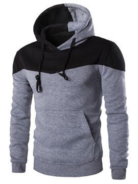Sudadera con capucha Ericdress Color bloque Simple Casual hombres