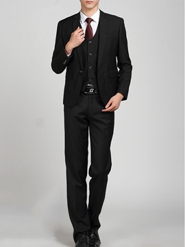 Ericdress Plain Formal Slim Men's Suit