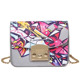 Ericdress Celebrity Geometric Print Crossbody Bag