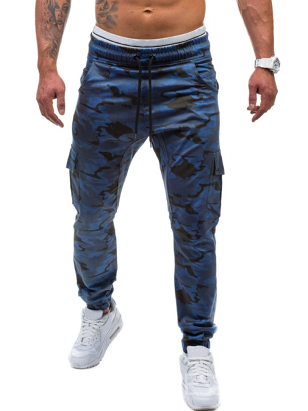 Ericdress Camouflage Lace-up Sports Casual Mens Pants