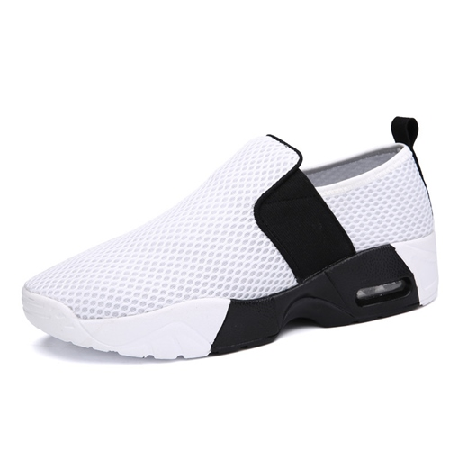 Ericdress Slip-On Mesh Contrast Color Men's Sneakers