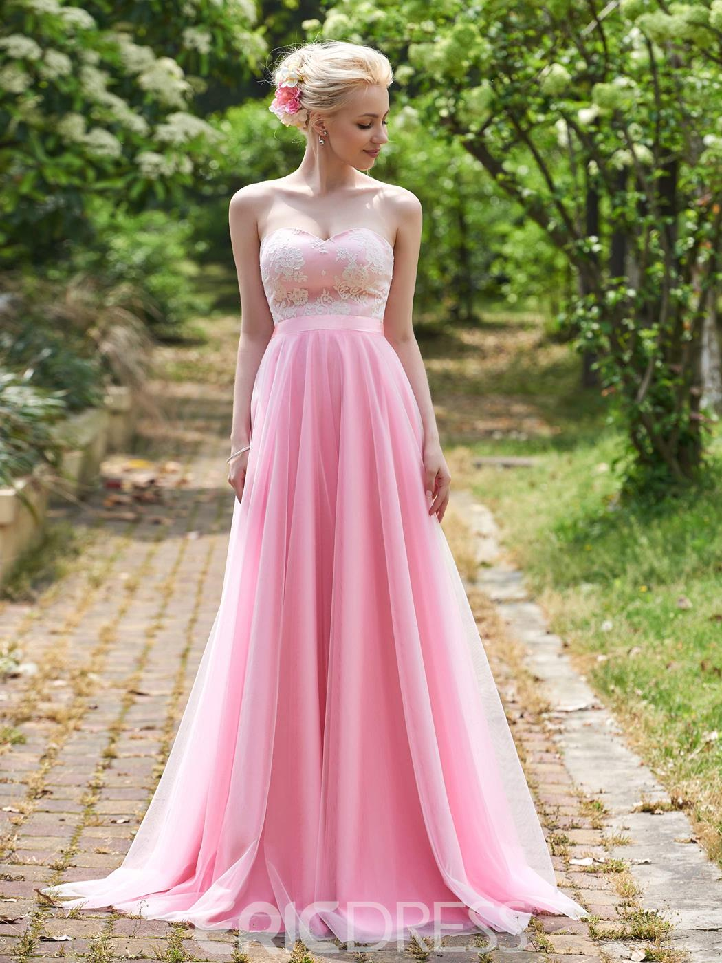 Ericdress Beautiful Sweetheart A Line Long Bridesmaid Dress