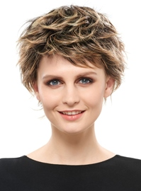 Ericdress Free Style Layered Cut Short Curly Synthetic Wig 6 Inches