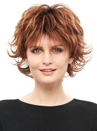 Ericdress Fluffy Layered Short Straight Synthetic Hair Capless Wig 8 Inches