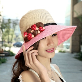 Ericdress Adorable Rose Embellished Sunhat