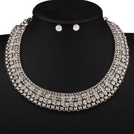 Alloy Rhinestone Two-Piece Jewelry Set